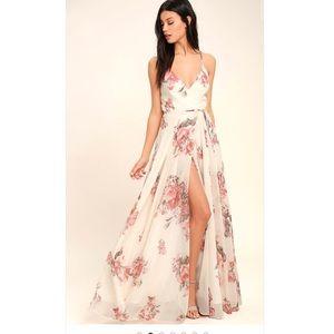 Lulus floral wrap maxi dress size sm